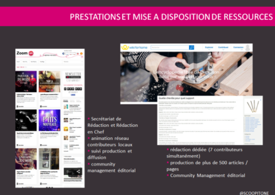 production et prestation