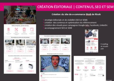 création éditoriale : contenus, SEO et SEM