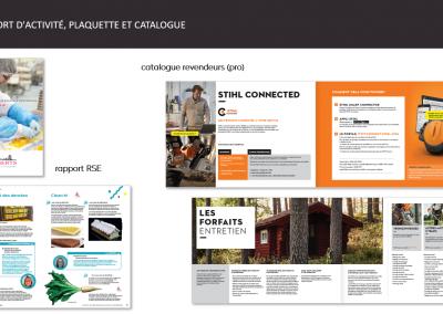 rapport d'activité, plaquette et catalogue
