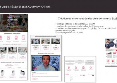 site, visibilité SEO et SEM, communication