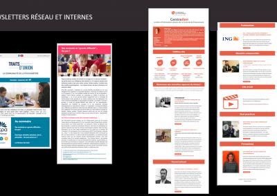 newsletters réseaux et internes