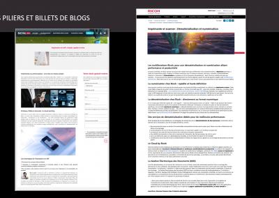 pages piliers et billets de blog