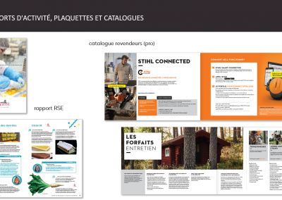 rapports d'activité, RSE et catalogues
